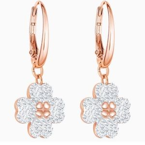 Swarovski crystal rose gold earrings